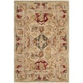 Hand-made Anatolia Diamonds Hand-spun Wool Rug (2' x 3')