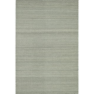 Hand-woven Poplin Charcoal Wool/ Cotton Rug (9'3 x 13)
