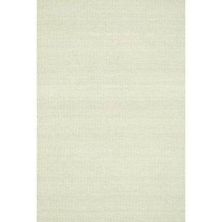 Hand-woven Poplin Beige Wool/ Cotton Rug (9'3 x 13)