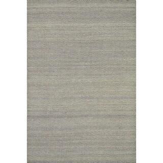 Hand-woven Poplin Plum Wool/ Cotton Rug (7'10 x 11)