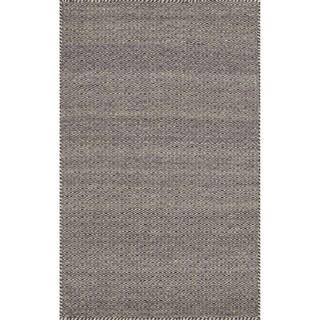 Hand-woven Poplin Plum Wool/ Cotton Rug (2'3 x 3'9)