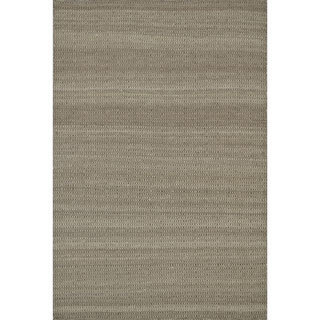 Hand-woven Poplin Chocolate Wool/ Cotton Rug ( 7'10 x 11)