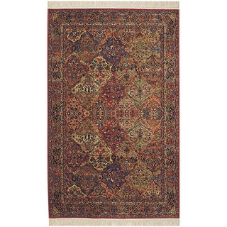 Original Karastan Multi Panel Kirman Rug (5'9 x 9')