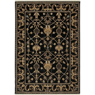 Karastan English Manor William Morris Black Rug (5'7 x 7'11)