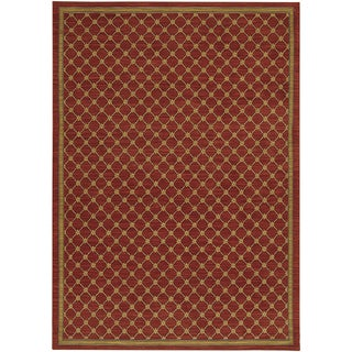 Karastan English Manor Coventry Trellis Red Rug (8'6 x 11'6)