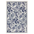 Jacobean Blue Rug (5' x 7')