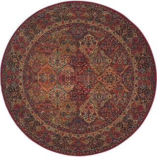 Original Karastan Multi Panel Kirman Rug (8'8 Round)