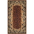 Safavieh Hand-made Naples Black/ Gold Wool Rug (2' x 3')
