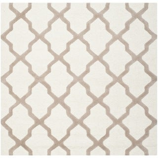 Safavieh Handmade Moroccan Cambridge Ivory Wool Rug (6' Square)
