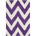 Safavieh Handmade Moroccan Cambridge Purple/ Ivory Wool Rug (2' x 3')
