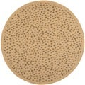 Safavieh Indoor/ Outdoor Courtyard Natural/ Gold Rug (6'7 Round)