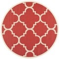 Safavieh Indoor/ Outdoor Courtyard Red Rug (6'7 Round)