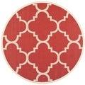 Safavieh Indoor/ Outdoor Courtyard Red Rug (7'10 Round)