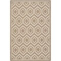 Safavieh Indoor/ Outdoor Courtyard Brown/ Bone Rug with 0.25-Inch Pile (6'7 x 9'6)