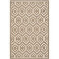 Safavieh Indoor/ Outdoor Courtyard Brown/ Bone Polypropylene Rug (8' x 11')