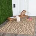 Safavieh Indoor/ Outdoor Courtyard Brown/ Bone Area Rug (8' x 11')