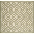 Safavieh Indoor/ Outdoor Courtyard Green/ Beige Stain Resistant Rug (7'10 Square)