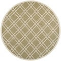 Safavieh Indoor/ Outdoor Courtyard Green/ Beige Area Rug (7'10 Round)