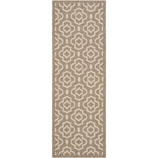 Safavieh Indoor/ Outdoor Courtyard Brown/ Bone Rectangular Rug (2'3 x 6'7)