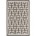 Safavieh Handwoven Moroccan Dhurrie Chocolate-brown Wool Area Rug (4' x 6')