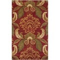 Handmade Metro Majestic Gardens Rust New Zealand Wool Rug (3' x 5')