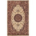 Safavieh Handmade Persian Legend Ivory/ Rust Wool Area Rug (4' x 6')