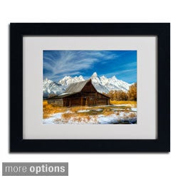 Pierre Leclerc 'Iconic Barn Grand Teton' Framed Matted Art