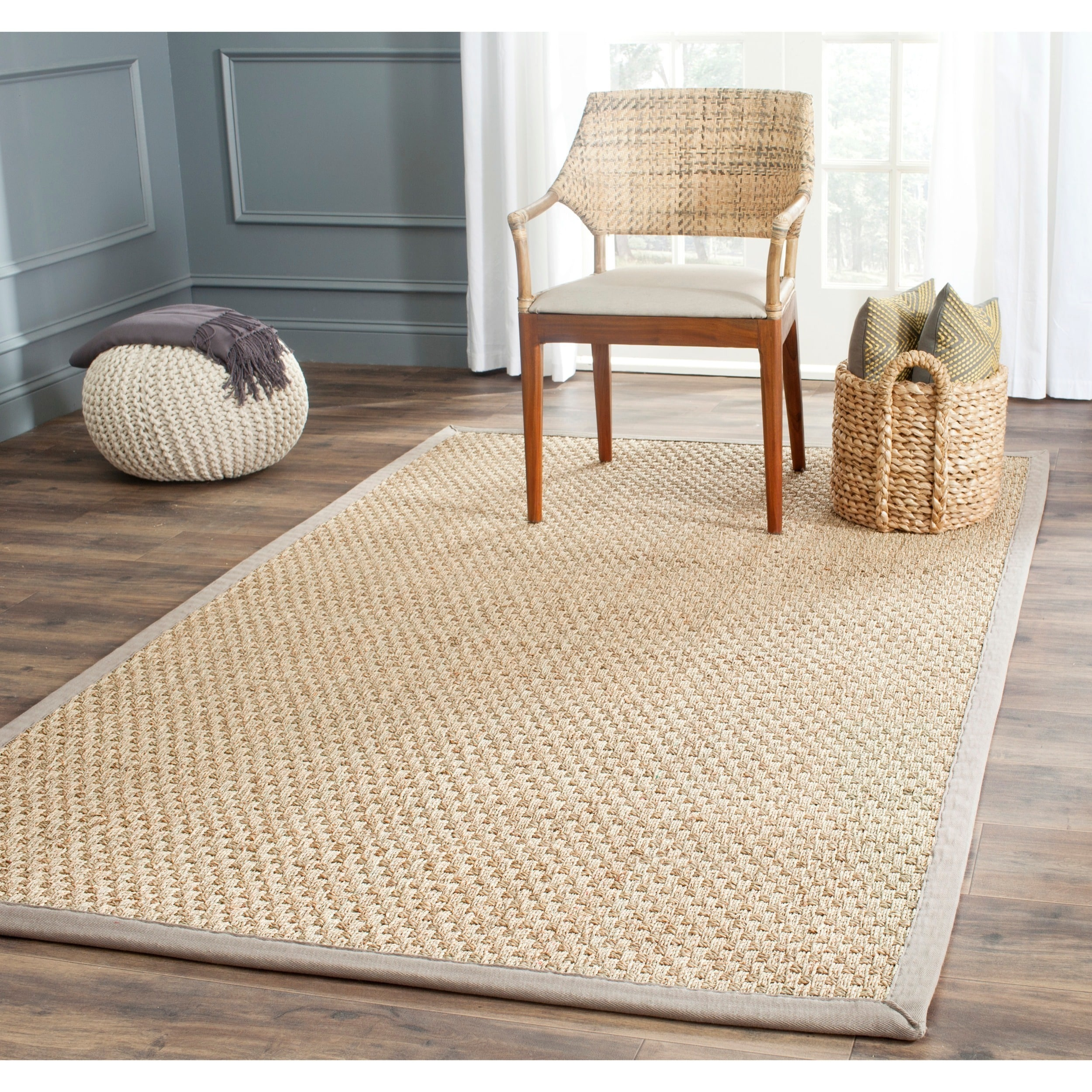 Safavieh Grey Sisal Sea Grass Rug (8u0026#39; x 10u0026#39;) - Overstock Shopping - Great Deals on Safavieh 7x9 ...