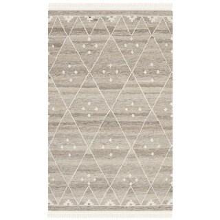 Safavieh Hand-woven Natural Kilim Natural/ Ivory Wool Rug (3' x 5')