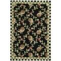 Safavieh Hand-hooked Chelsea Black/ Ivory Wool Rug (2' x 3')