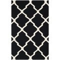 Safavieh Handwoven Moroccan Dhurrie Transitional Black Wool Rug (4' x 6')