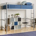 Silver Metal Deluxe Twin Loft Bed