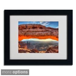 Pierre Leclerc 'Mesa Arch Sunrise' Framed Matted Art