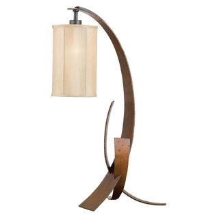 Varaluz Aizen 1-light Hammered Ore with Aspen Bronze Accents Table Lamp