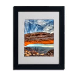 Pierre Leclerc 'Mesa Arch Sunrise 2' Framed Matted Art
