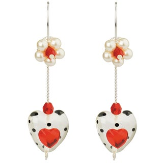 Lalo Treasures Sterling Silver 'Love Is' Earrings (Bulgaria)