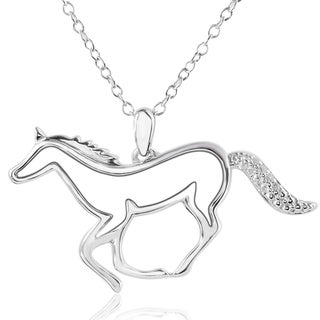 ASPCA Tender Voices Sterling Silver Diamond Accent Horse Necklace