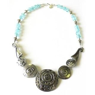 "Palmtree Gems ""Blue Bayou"" Crackle Glass Necklace"