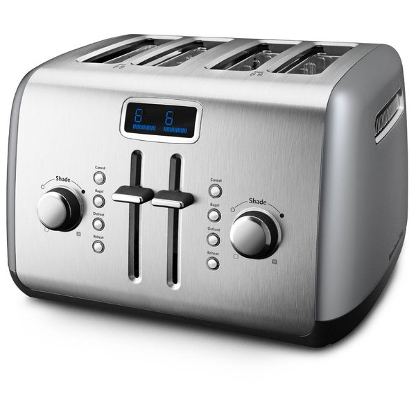 KitchenAid RKMT422CU Contour Silver 4-slice Manual High-Lift Lever Toaster (Refurbished)