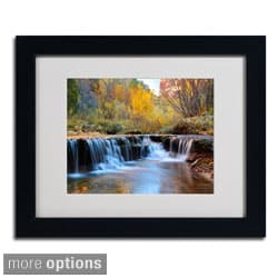 Pierre Leclerc 'Zion Autumn' Framed Matted Art