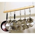 Cooks Standard Single Bar 36-inch Ceiling Mount Wooden Pot Rack