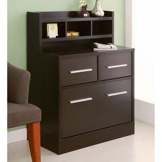 Hotchner Multi-storage File Cabinet Work Station, Cappuccino