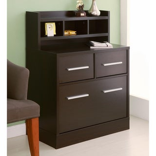 Furniture of America Hotchner Multi-storage File Cabinet Work Station, Cappuccino