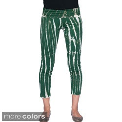 Tie Dye Fitted Active Capri Yoga Pants (Nepal)