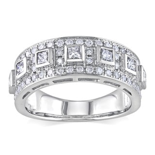 Miadora 14k White Gold 1ct TDW Diamond Anniversary Ring (G-H, SI1-SI2)