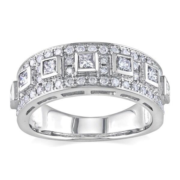 Miadora 14k White Gold 1ct TDW Diamond Anniversary Ring (G-H, SI1-SI2)