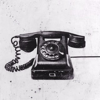 JB Hall 'Black Phone'  Paper Print (Unframed)