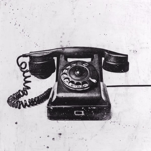 JB Hall 'Black Phone' Paper Print (Unframed)