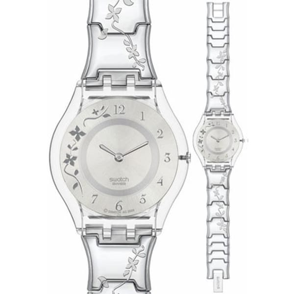 Swatch Women's Skin SFK300G Silver Stainless-Steel Quartz Watch with Silver Dial