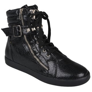 Journee Collection Women's 'Alexa' Lace-up High Top Sneakers
